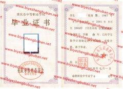 重庆市永川职业教育中心中专毕业证样本图